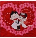 Comfortable and Full of Happiness Red One Pair New Couple Bed Pillowcases