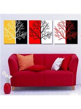 New Style Wonderful Tree 3-Piece Crystal Film Art Wall Print