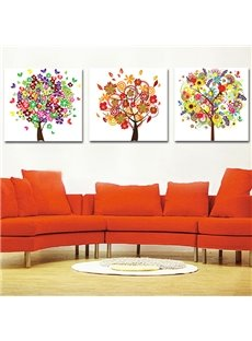 Colorful Trees 3-Piece Crystal Film Art Wall Print
