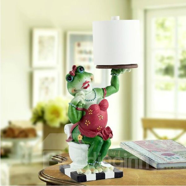 Adorable Frog Lady Top Grade Resin Paper Holder