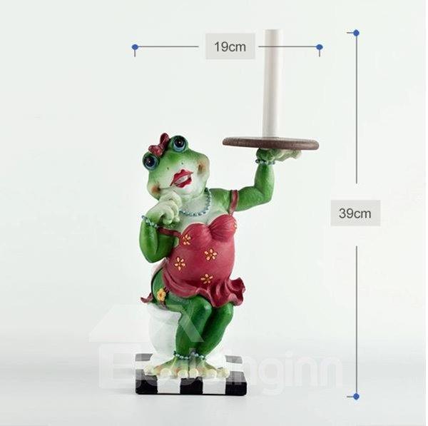 Adorable Frog Lady Top Grade Resin Paper Holder