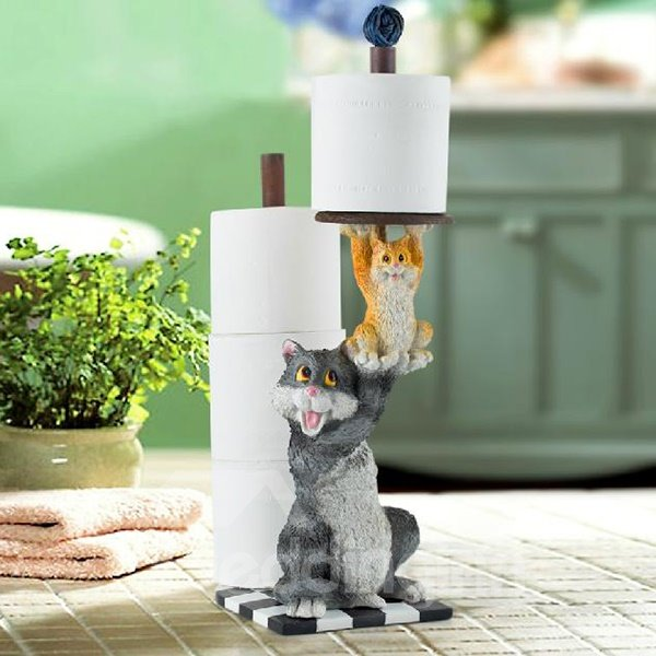 Top Class Vivid Mother and Daughter Cat Paper Holder