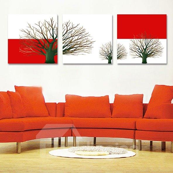 Wonderful Branches 3-Piece Crystal Film Art Wall Print