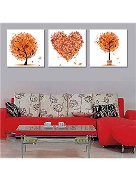 Multi Shape Tree 3-Piece Crystal Film Art Wall Print