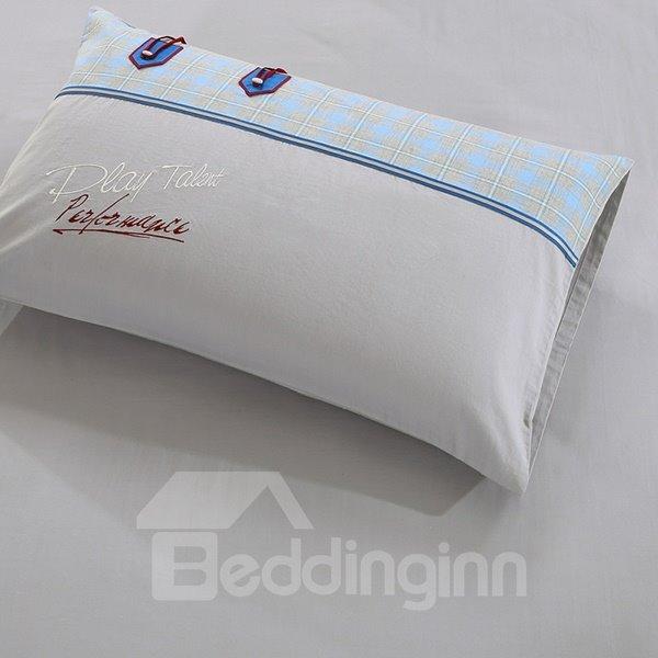 Classical Jean Pattern 4-Piece Cotton Duvet Cover Sets