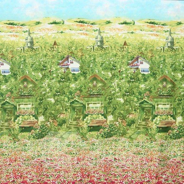 Mole Village Print 4-Piece Cotton Duvet Cover Sets