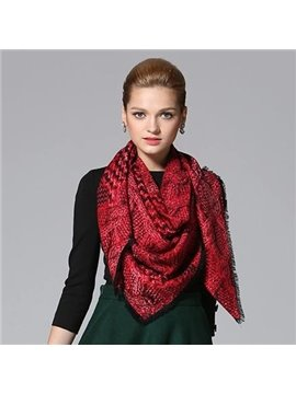 Knitting Yarn Pattern Huge Wool Shawl Square Scarf