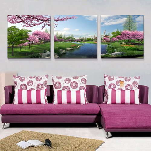 Beautiful World 3-Piece Crystal Film Art Wall Print