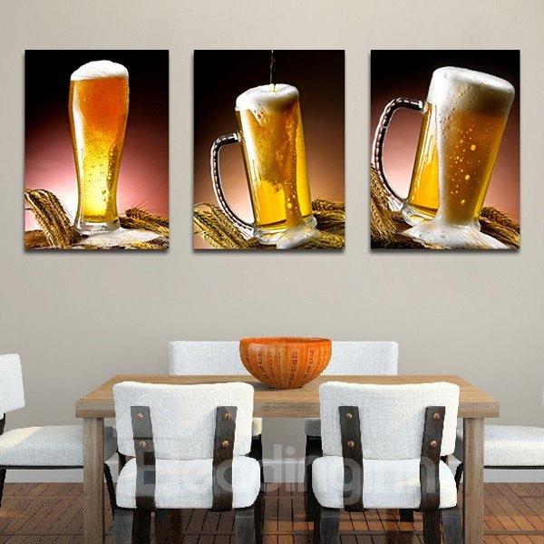 Beer Glasses 3-Piece Crystal Film Art Wall Print