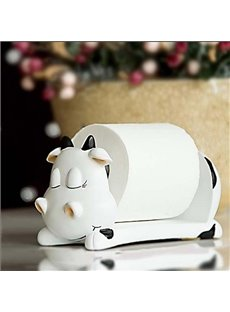 Adorable Cattle Shape Resin Toilet Paper Holder