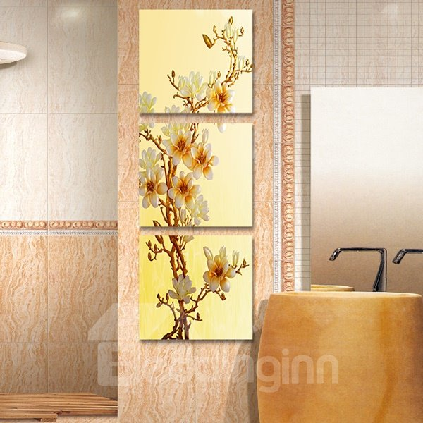 Beautiful Flowers 3-Piece Crystal Film Art Wall Print