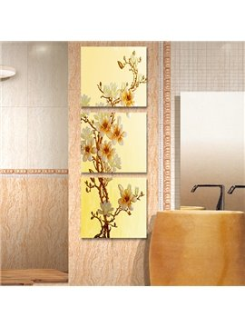 Beautiful Flowers 3-Piece Crystal Film Art Wall Print