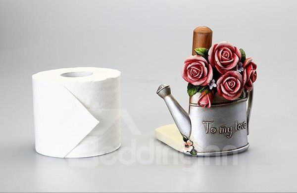 Romantic Rose Watering Can Shape Paper Holder