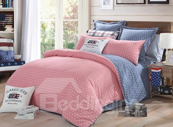 Five-Pointed Star Pattern 4-Piece Cotton Duvet Cover Sets