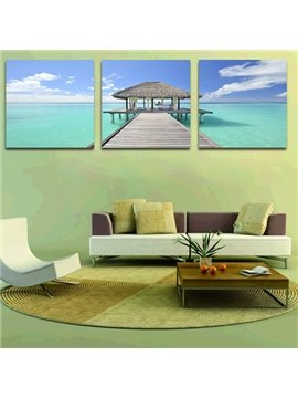 Beautiful Sea 3-Piece Crystal Film Art Wall Print