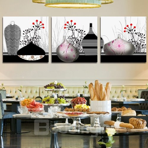 Abstract Vases 3-Piece Crystal Film Art Wall Print