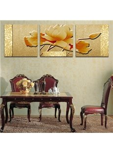 Noble Elegant Lotus 3-Piece Crystal Film Art Wall Print