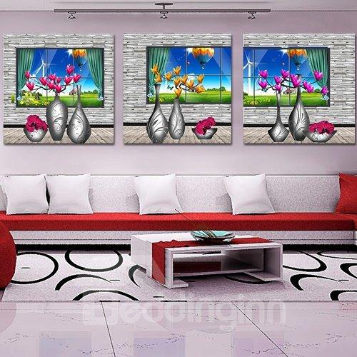 Pretty Magnolia 3-Piece Crystal Film Art Wall Print