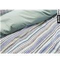 Stripe Pattern 4-Piece Cotton Duvet Cover Sets