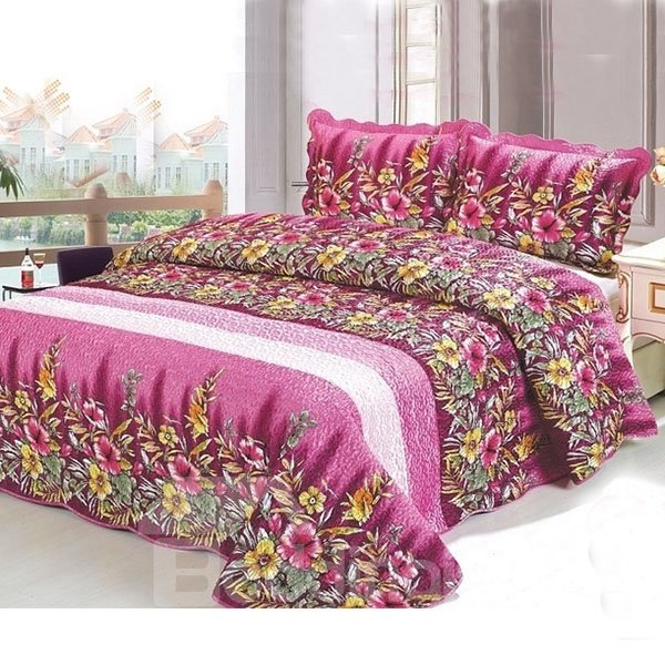 Smooth and Soft Countryside Style 3-Piece Bed in a Bag