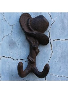 American Country Cowboy Hat Shape Iron Hooks