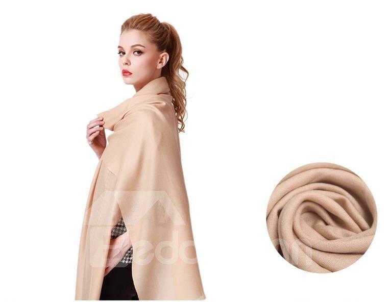 High Quality Huge Size 100% Lamb Wool Shawl Long Scarf