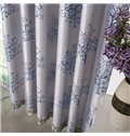 High Shading Degree 2-Pieces Jacquard Grommet Top Curtain