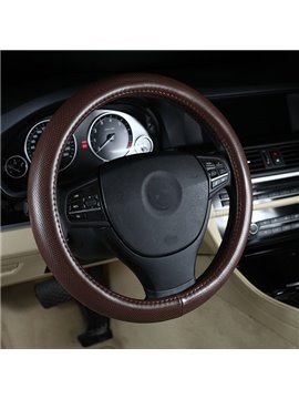 Simple And Elegant Four Season Leather Steering Wheel Covers