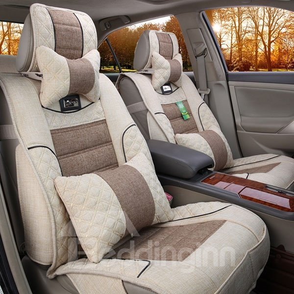Best Car Seat Covers >> Soft And Simple Style Natural Fiber Filled Flax Car Seat ...