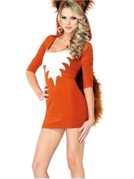 Sexy Fox Big Tail  Mini Dress Costume