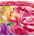Flower Oil Painting Print 4-Piece Cotton Duvet Cover Sets