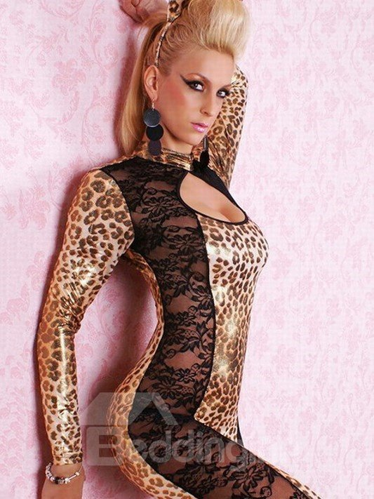 Super Sexy Lace And Leopard Contra Catwomen Costume