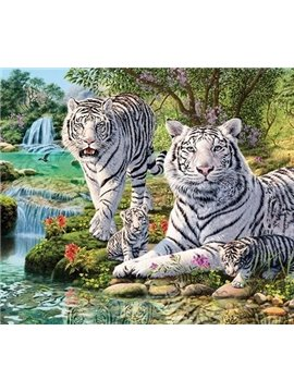 The Tiger Family 1-Piece DIY Diamond Sticker