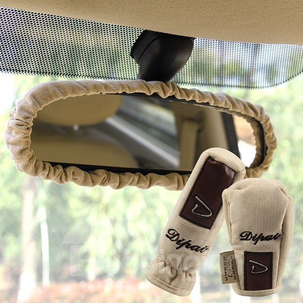 3-Piece Hand Brake Cover Gear Cover And Rearview Mirror Cover