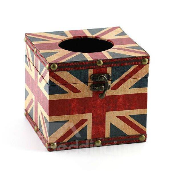 Gorgeous Fashion the Union Jack Print Square Tissue Box