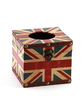 Gorgeous Fashion the Union Jack Print Square Tissue Box