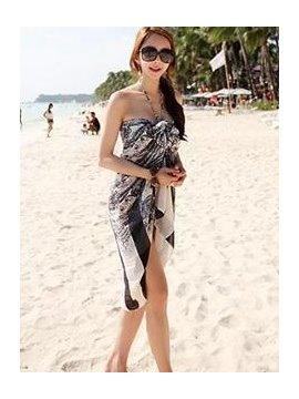 Unique Black Pattern Multi-use Bikini Cover Up