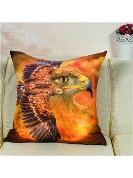 Lifelike Flying Eagle Printed Throw Pillow