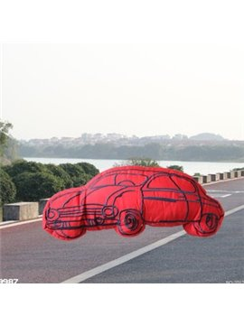 New Arrival Cartoon Car Shape Red Throw Pillow