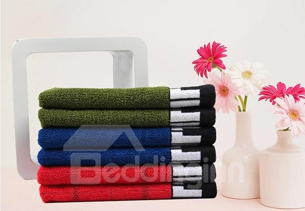 Creative Piano Keyboard Note Print Cotton Towel