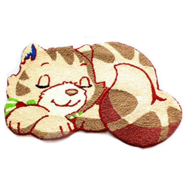 Adorable Cartoon Cat Anti-slip Acrylic Fibres Bath Rug