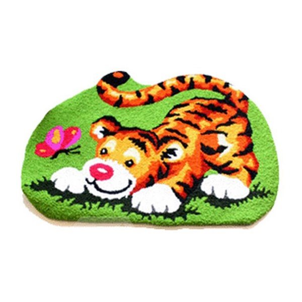 Lifelike Cartoon Tiger Skid-proof Acrylic Fibres Bath Rug