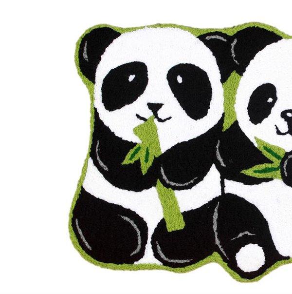 Vivid Pandas Eating Bamboo Anti Slip Bath Rug Beddinginn Com