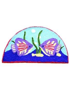 Cozy Cartoon Fishes Acrylic Fibres Bath Rug