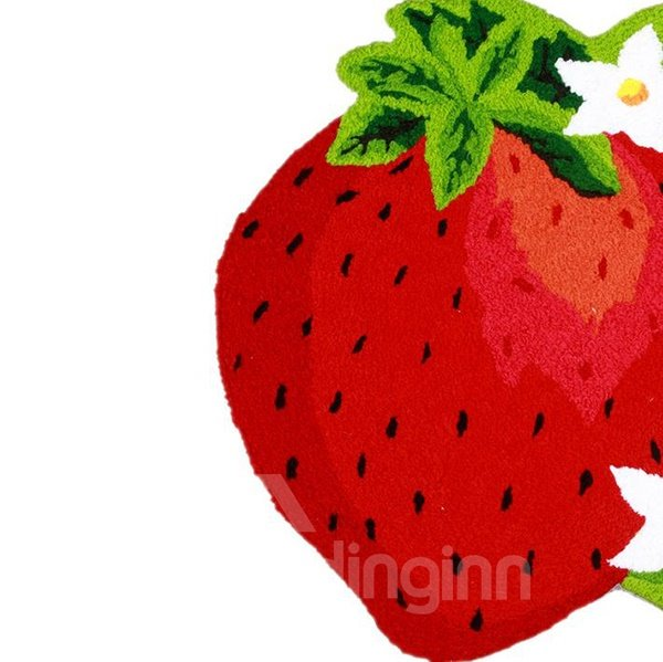 Tasty Vivid Strawberry Shape Anti-slip Comfy Bath Rug