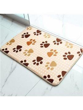 Wonderful Pretty Little Feet Coral Fleece Doormat