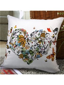 Heart Shape Fashionable and Abstract Style Pillowcase