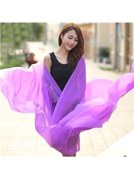 Romantic Chiffon Lilac Huge Long Shawl Scarf