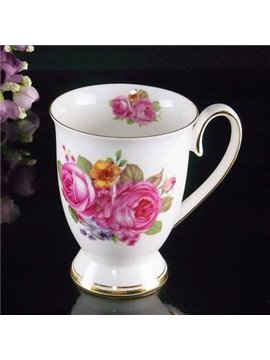European Classic Wonderful Pink Peony Creative Mug