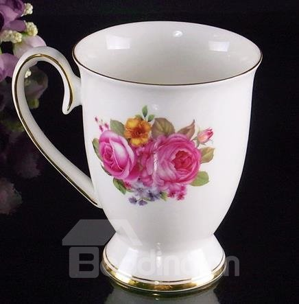 European Classic Wonderful Pink Peony Creative Mug